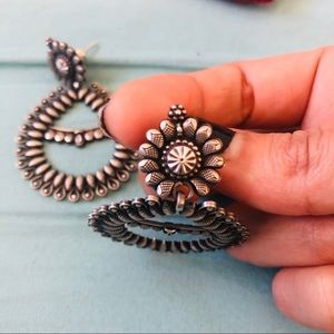 Jewelry - .925 Sterling Silver Boho Earrings